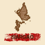 Siargao distressed map. Royalty Free Stock Photos