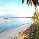 Siargao Shoreline. White Beach Royalty Free Stock Photos