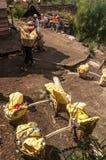 Siarka przy Kawah Ijen Zdjęcie Royalty Free