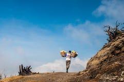 Siarka przy Kawah Ijen Zdjęcie Stock