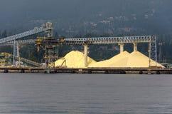 Siarka w Vancouver porcie Obraz Royalty Free
