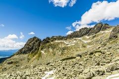 Siarkanska Ridge, o cresta laterale del sud alta (Wysoka, Vysoka) Fotografia Stock