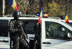 SIAS Unit of Romania. BUCHAREST, ROMANIA, DEC. 1: Military Parade on National Day of Romania, Arc de Triomphe, December 1, 2013 in Bucharest Stock Images