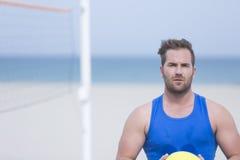 Siatkówka gracz na plaży Obrazy Stock