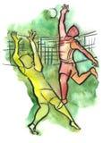 siatkówka gracze ilustracji