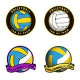 Siatkówka logo dla drużyny i filiżanki Fotografia Royalty Free