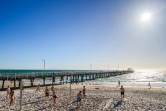 Siatkówka przy plażą Fotografia Royalty Free