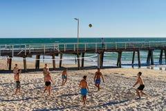 Siatkówka przy plażą Zdjęcia Stock