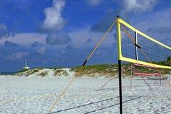 Siatkówka sądy na plaży Obrazy Royalty Free