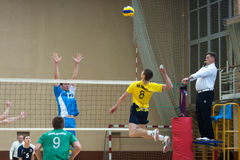 Siatkówki gra Ukraiński Super liga Obraz Royalty Free