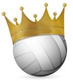 Siatkówki piłka z koroną Zdjęcia Royalty Free