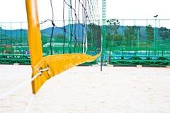 Siatkówki sieci plaża Zdjęcia Stock