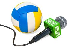 Siatkówki wiadomości pojęcie Mikrofonu sporta wiadomość z siatkówka b royalty ilustracja