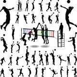 Siatkówki womam i mężczyzna Zdjęcie Stock