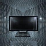 siatka monitoruje pokój Zdjęcie Stock