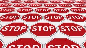 Siatka Ośmioboczni przerwa znaki Zdjęcie Royalty Free