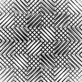 Siatka, siatka, zygzag, zirytowane linie Mozaika jak grill, drażniący półdupki ilustracja wektor