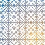 Siatka wektoru geometryczny wzór Geometryczny sześcian, Gwiazdowy skutek ilustracji