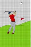 Siatka wzór Z golfistą Zdjęcia Royalty Free