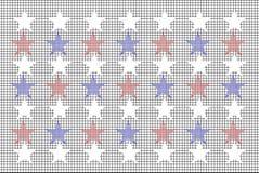 Siatka wzór Z kolor gwiazdami Fotografia Royalty Free