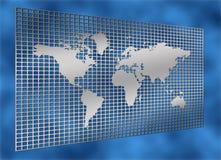 siatki mapy świata metali Zdjęcia Royalty Free
