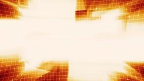 Siatki technologii pomarańcze tło royalty ilustracja