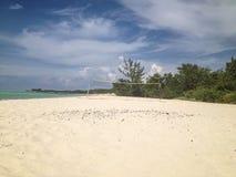Siatkówki sieć na tropikalnej plaży Obrazy Stock