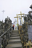 Siauliai,August 24:Hill of Crosses from Siauliai in Lithuania Stock Images