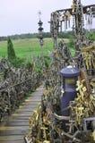 Siauliai, 24 Augustus: Heuvel van Kruisen van Siauliai in Litouwen Stock Afbeeldingen