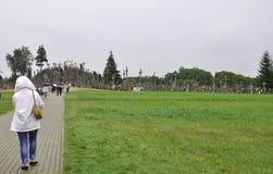 Siauliai, 24 Augustus: Heuvel van Kruisen van Siauliai in Litouwen Stock Foto