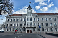 Siauliai city in the Lithuania Royalty Free Stock Photo