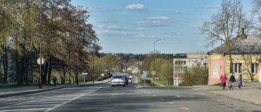 Siauliai city in the Lithuania Royalty Free Stock Image