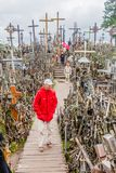 SIAULIAI, LITHUANIA - AUGUST 18, 2016: The Hill of Crosses, pilgrimage site in northern Lithuan. Ia royalty free stock photo