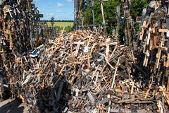 SIAULIAI, LITHUANIA - JUL 12, 2015: The Hill of Crosses (Kryziu Stock Photography