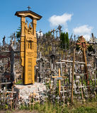 SIAULIAI, LITHUANIA - JUL 12, 2015: The Hill of Crosses (Kryziu Royalty Free Stock Image