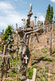 SIAULIAI, LITHUANIA - JUL 12, 2015: The Hill of Crosses (Kryziu Stock Images