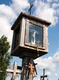 SIAULIAI, LITUÂNIA - 12 DE JULHO DE 2015: O monte das cruzes Fotografia de Stock Royalty Free
