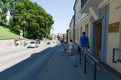 Siauliai stad i Litauen Arkivfoto