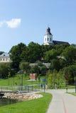 Siauliai stad i Litauen Royaltyfria Bilder