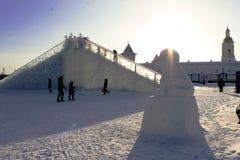 Sibéria nevado foto de stock royalty free