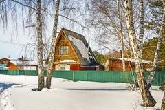 Sibéria no inverno Paisagem rural Imagem de Stock
