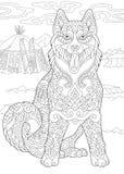 Sibérien Husky Dog de Zentangle Image stock