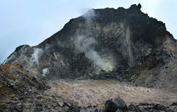 Sibayak volcano at island  Sumatra Stock Photography
