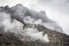 Sibayak volcano near Berastagi in northern Sumatra Stock Photos