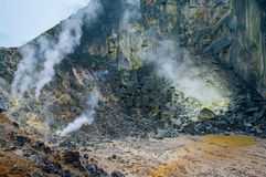 Sibayak volcano.  Sumatra. Indonesia Royalty Free Stock Photography