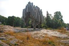 Sibelius Denkmal in Helsinki Stockbilder