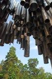Sibelius Denkmal in Helsinki Stockfotografie