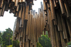 Sibelius monument in Helsinki Stock Photo