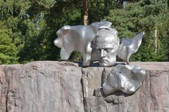 Sibelius monument in Helsinki, Finland Royalty Free Stock Photos