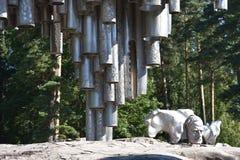 Sibelius monument in Helsinki, Finland Stock Image